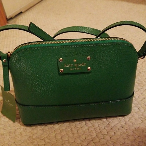 ebe3905c5a NWT Kate Spade Hanna Sprout Green Crossbody Bag